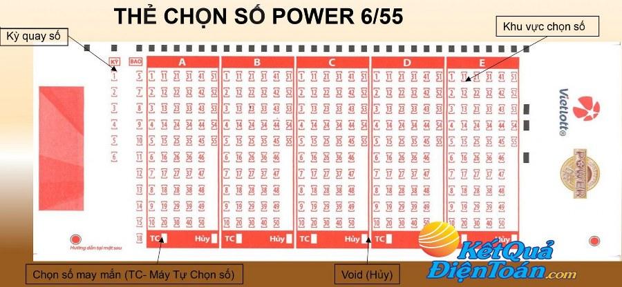 Xổ số Vietlott Power 655 Cách chơi và cơ cấu giải thưởng